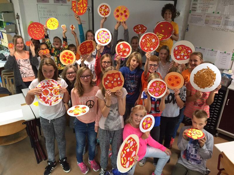 Pizza groep 8