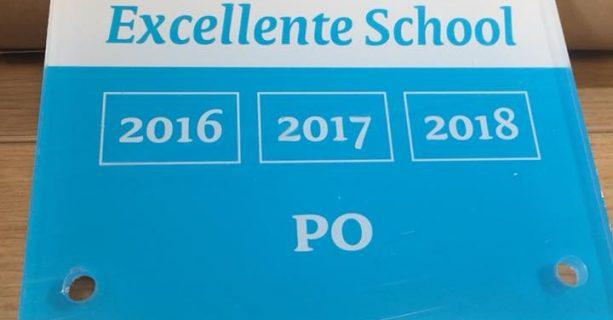 Predicaat Excellente School verlengd voor 2018!