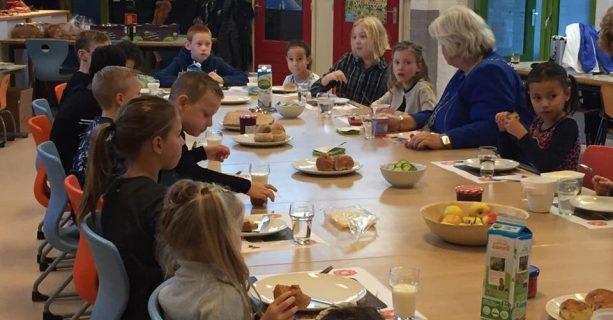 Schoolontbijt met de burgemeester