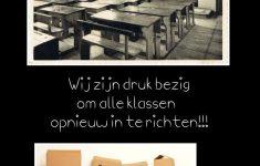 Alle klassen worden ingericht...