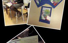Schrijfster in de klas